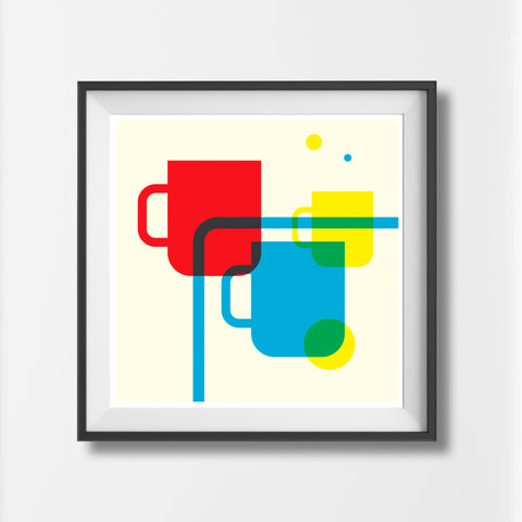 Scandinavian Cup print design - 'Unframed'