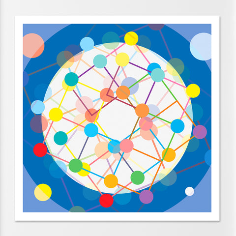 Connect More retro Scandinavian Atomic art print - 'Unframed'