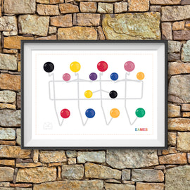 'HANG IT ALL' retro Eames era mid century fifties sixties classic atomic designer gallery art print - 'Unframed'