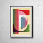 MINIMALIST SHAPES retro minimalist minimalism mcm sixties shapes mid century design fine art gallery print - 'Unframed'