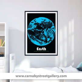 'Earth' The blue planet home solar system space travel collectible planets astronomy gallery art print - 'Unframed'