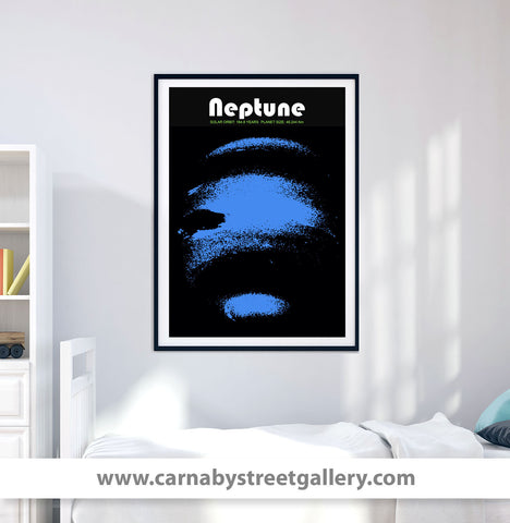 'Planet Neptune' Solar system space travel collectible planets astronomy gallery art print - 'Unframed'