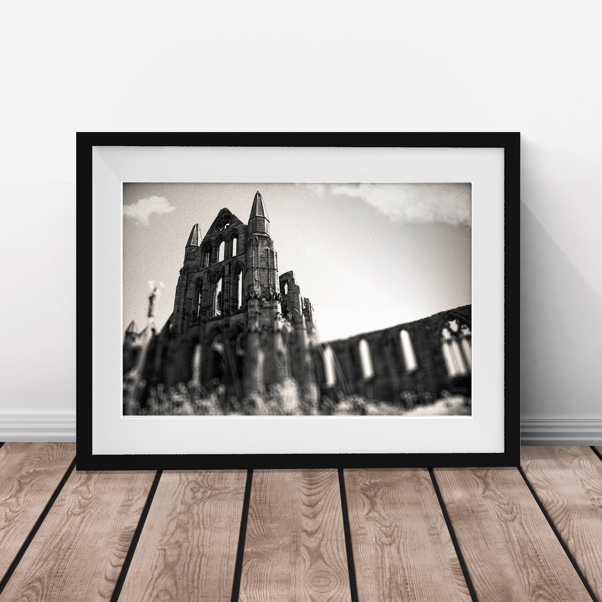 Whitby Abbey vintage gothic Architecture gallery art print - 'Unframed'