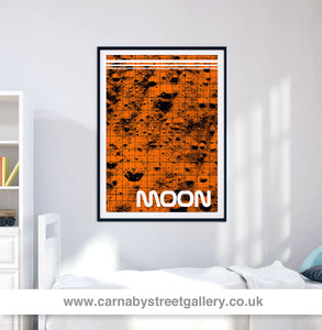 'MOON' Lunar module Nasa Apollo Moon landing space mission Astronaut 1969 Star solar system travel planets astronomy gallery art print - 'Unframed'