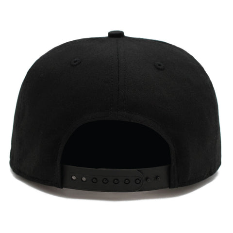 Black on Black Logo Snap back Hat Concord