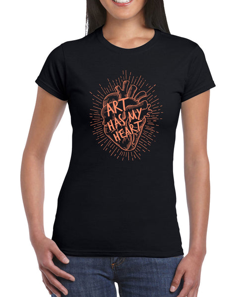 Women's - Art Has My Heart T-Shirt