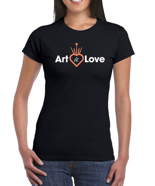 Women's - CROWN - Art is Love T-Shirt