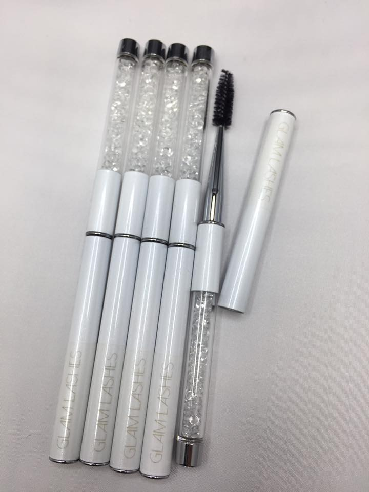 LASH BRUSHES/ MASCARA WANDS WITH CRYSTALS