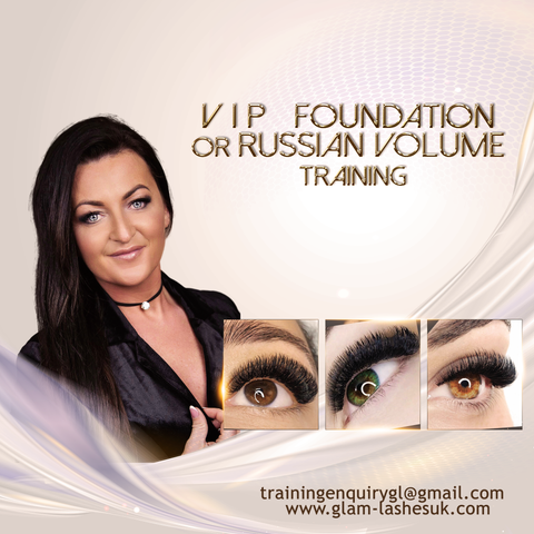 VIP ONE-TO-ONE FOUNDATION OR RUSSIAN VOLUME TRAINING ( Kit included )