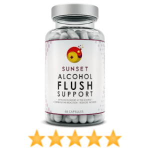 Alix O review of Sunset alcohol flush support