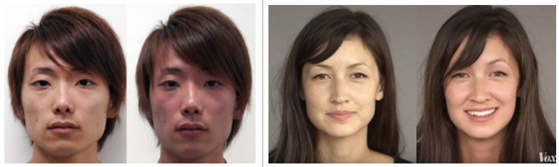 Asian flush picture in male and female