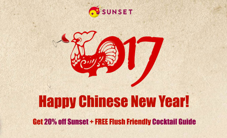 chinese year of rooster drinking