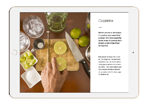 A page from Flushed ebook with a flush free cocktail recipe that can abvoid Asian glow