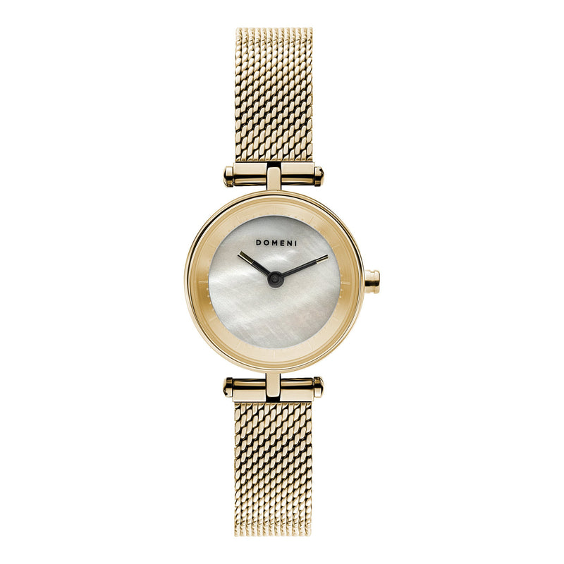 Watches - Milanese Mesh Micro Series - Gold Mother Of Pearl [Pre-order Price]