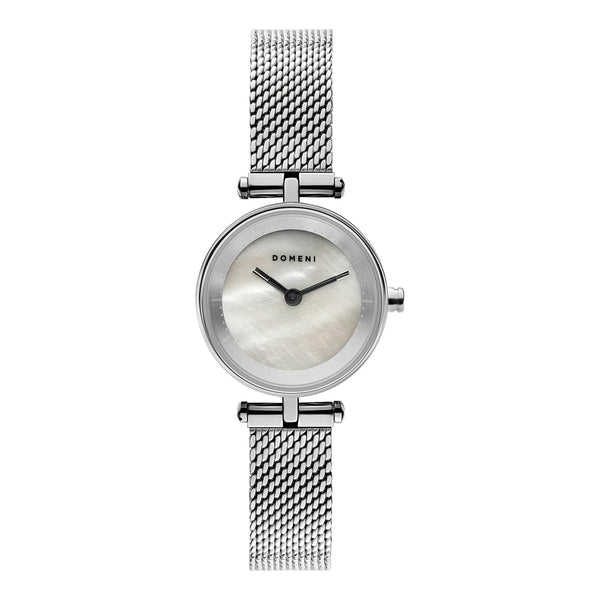 Watches - Milanese Mesh Micro Series - Silver Mother Of Pearl [Pre-order Price]