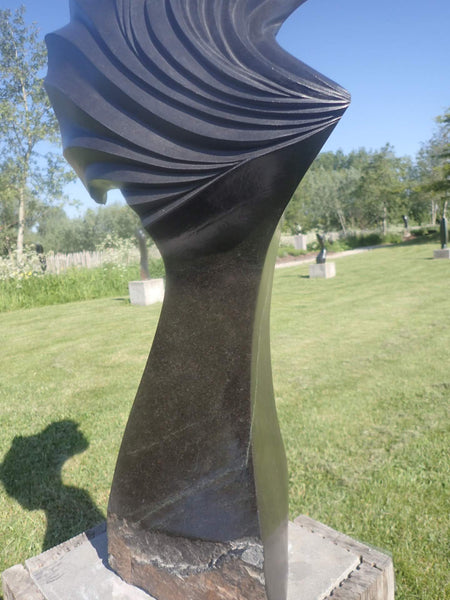 abstract sculpture stone