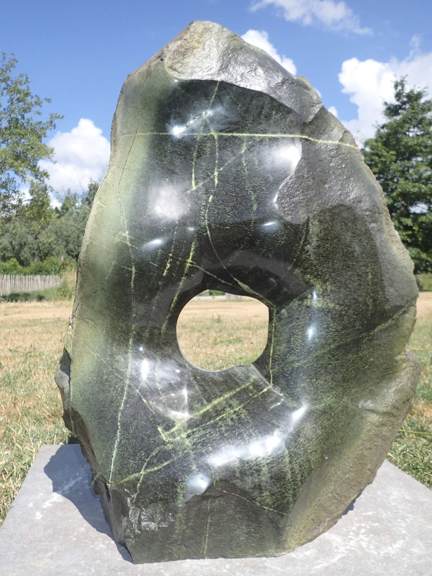 abstract stone sculpture, shona art Zimbabwe