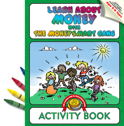 Money Smart Gang Activity and Colouring Book (+crayons)