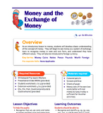 Money lesson plan for teaching kids, children (ages 6-7, key stage 1, grade 1) about money and coins