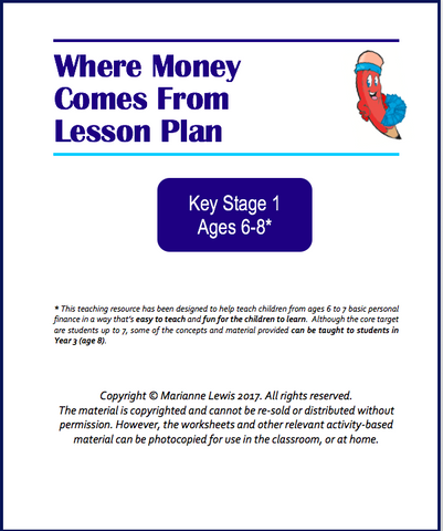 Free KS1 Where Money Comes From Lesson Plan