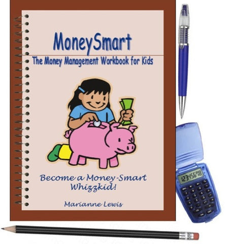 MoneySmart Toolkit for Kids (UK Version) - A4 Pack with book, pen & calculator