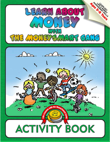 KS1 Money Smart Gang Activity & Colouring Book (+crayons)