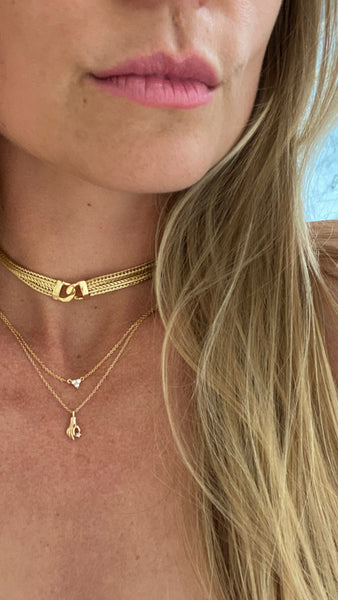 GEMMA // GOLD CHOKER NECKLACE