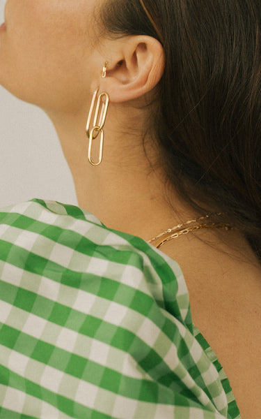AGNES STUDS // GOLD PLATED