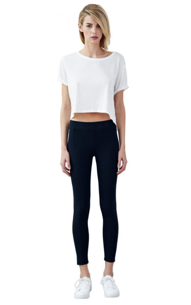 SEAMED LEGGINGS // BLACK // ORGANIC COTTON SPANDEX