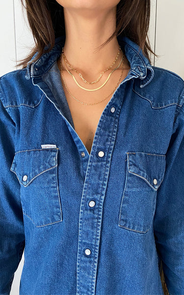 HENRETA HERRINGBONE NECKLACE // GOLD FILLED CHAIN