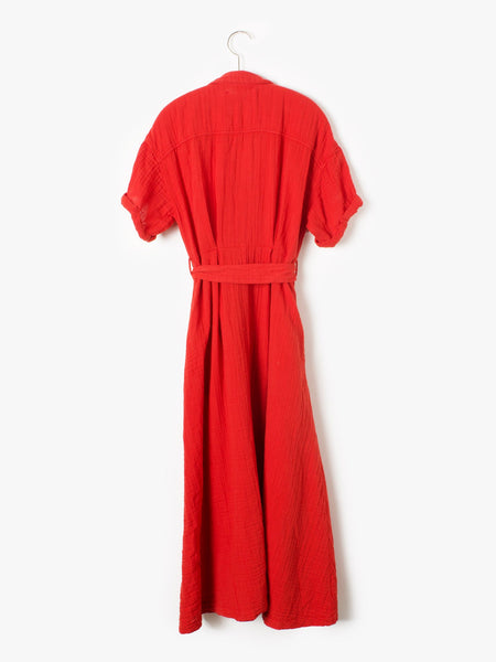 RED ROSE CAYLIN DRESS // COTTON GAUZE