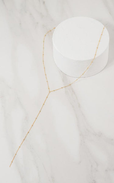 YELLOW SATELLITE CHAIN NECKLACE // 14K GOLD FILLED