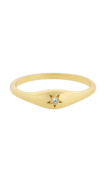 Five and Two Aiden Ring Gold | Shop GUNNARHAUS