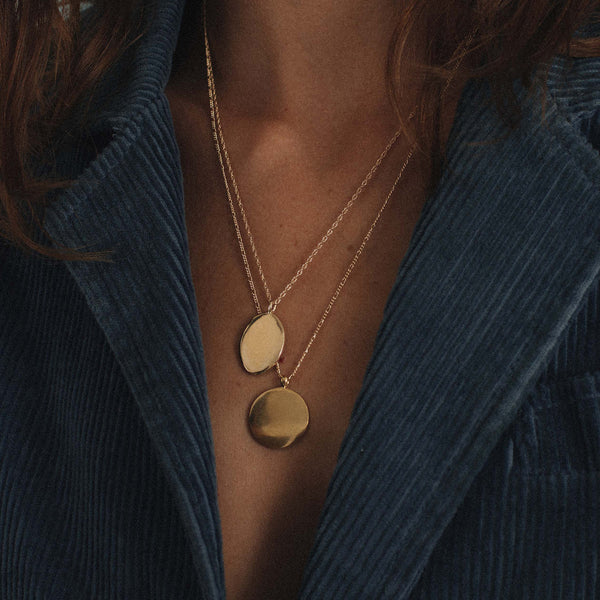 DIANA NECKLACE // GOLD ENGRAVED