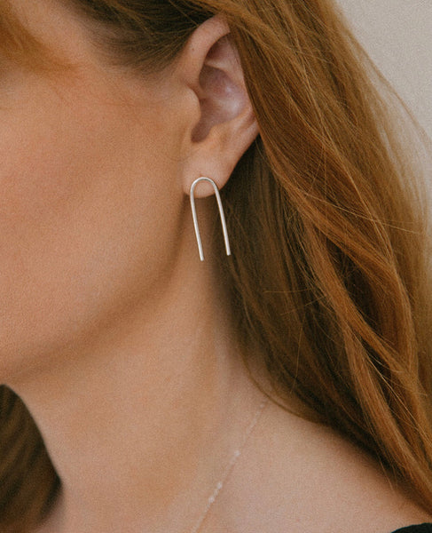 COVE EARRINGS // STERLING SILVER