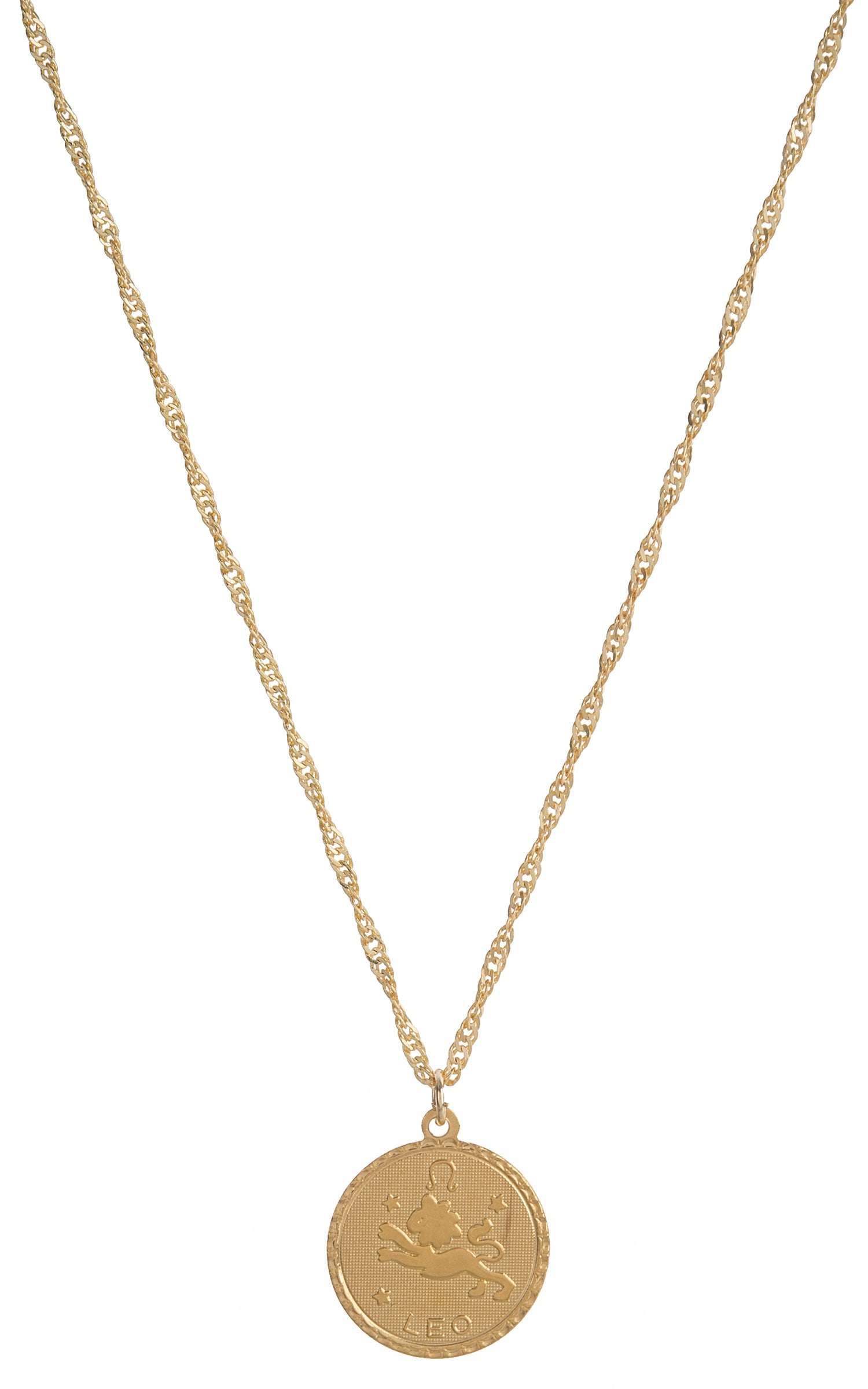 small medallion peech chain necklace a peri b products gold multi