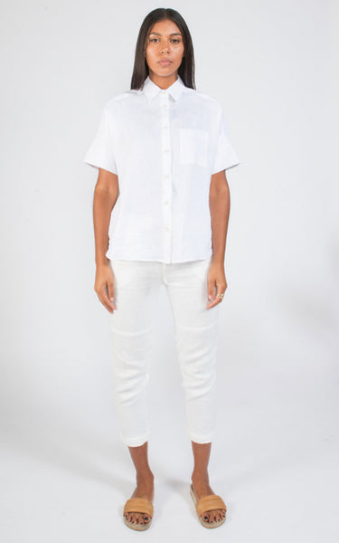 COAST Peninsula top white linen