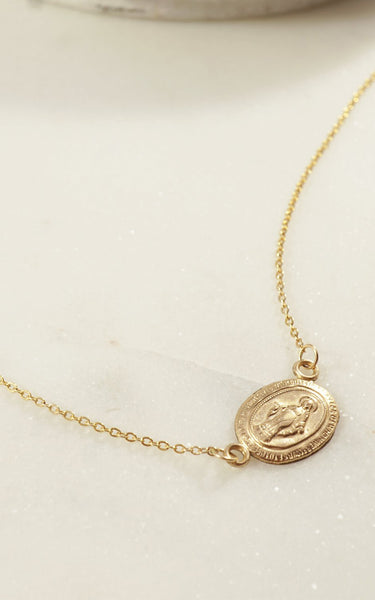 SAINT NECKLACE // 14K GOLD FILLED