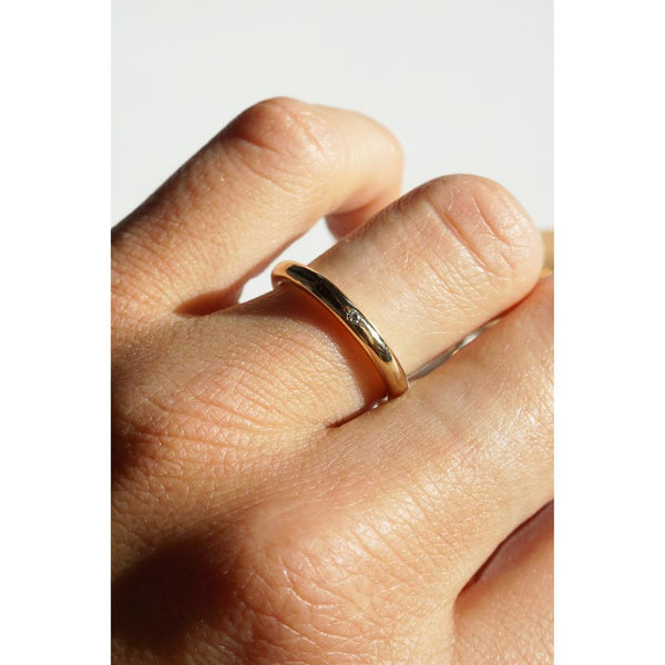 STAG DIAMOND RING // 14K GOLD FILLED