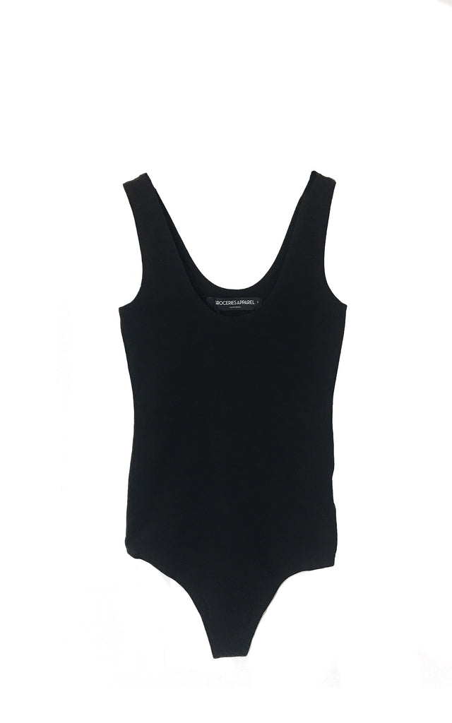 GROCERIES APPAREL Black Spandex Body suit  8165823bf