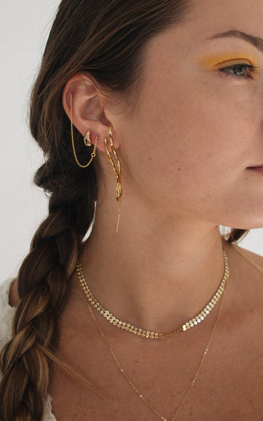 FRANCOISE THREADERS  // GOLD PLATED