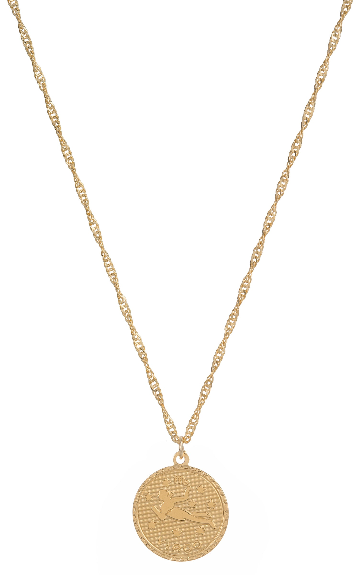 gold constellation virgo birthstone necklace