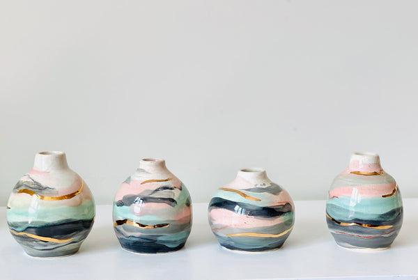 Henry Bud Vases in Landscapes