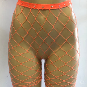 Teaser fishnet shorts