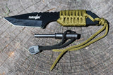 "7"" Survival Knife with Fire Starter"