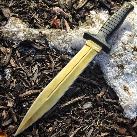 "11.25"" Gold Boot Knife"
