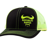 Snapback Trucker Black / Neon Yellow  Mesh Cap