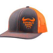 Snapback Trucker Graphite / Orange Mesh Cap