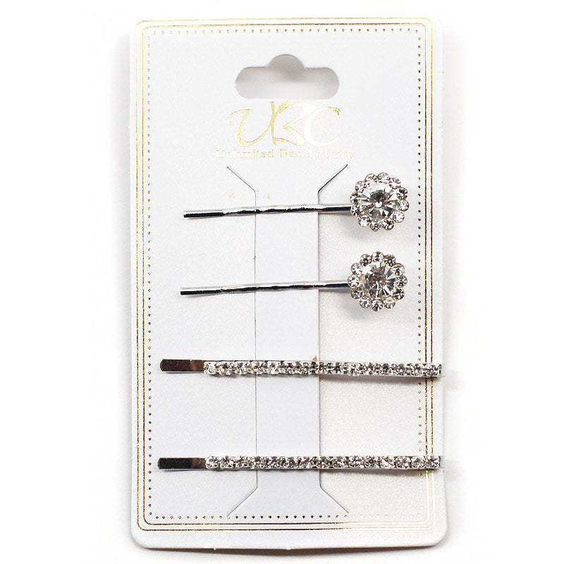 Rhinestone Hair Pins (4 Pcs)