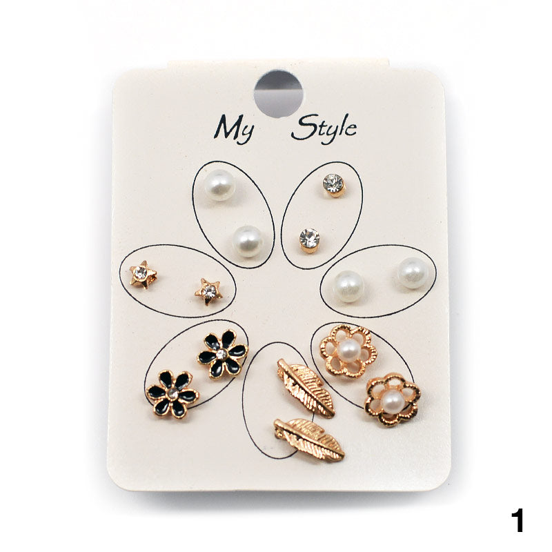 7-Pair Stud Earring Set (#2526)